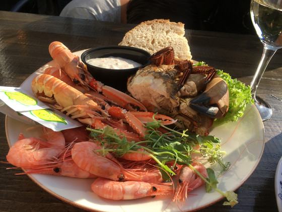 Seafood platter from the Swedish west coast!