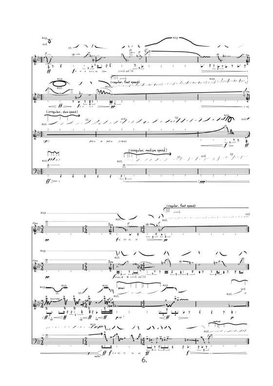 Pleats (2016) for string quartet now digitally hand written!