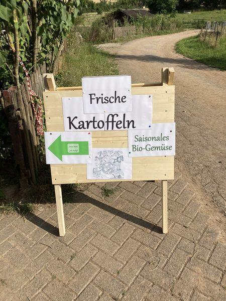 Schild Kartoffelverkauf