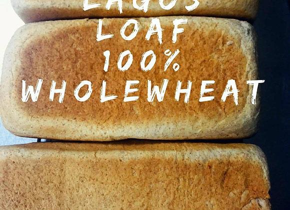 100% whole wheat Lagos Loaf
