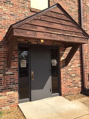 entrance door to Eureka Food Pantry