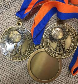 Harvest Moon 5k Run Medals-Route 66 State Park Eureka Missouri