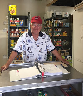 Eureka Food Pantry volunteer ready to help