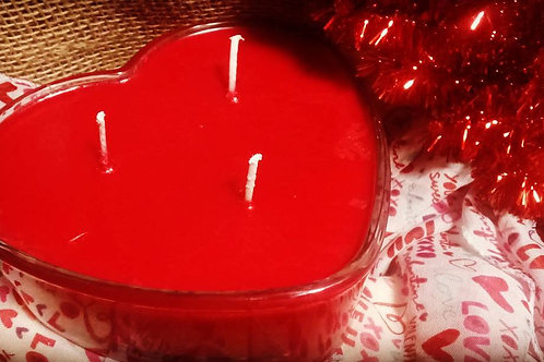 3 Wick Heart Candle