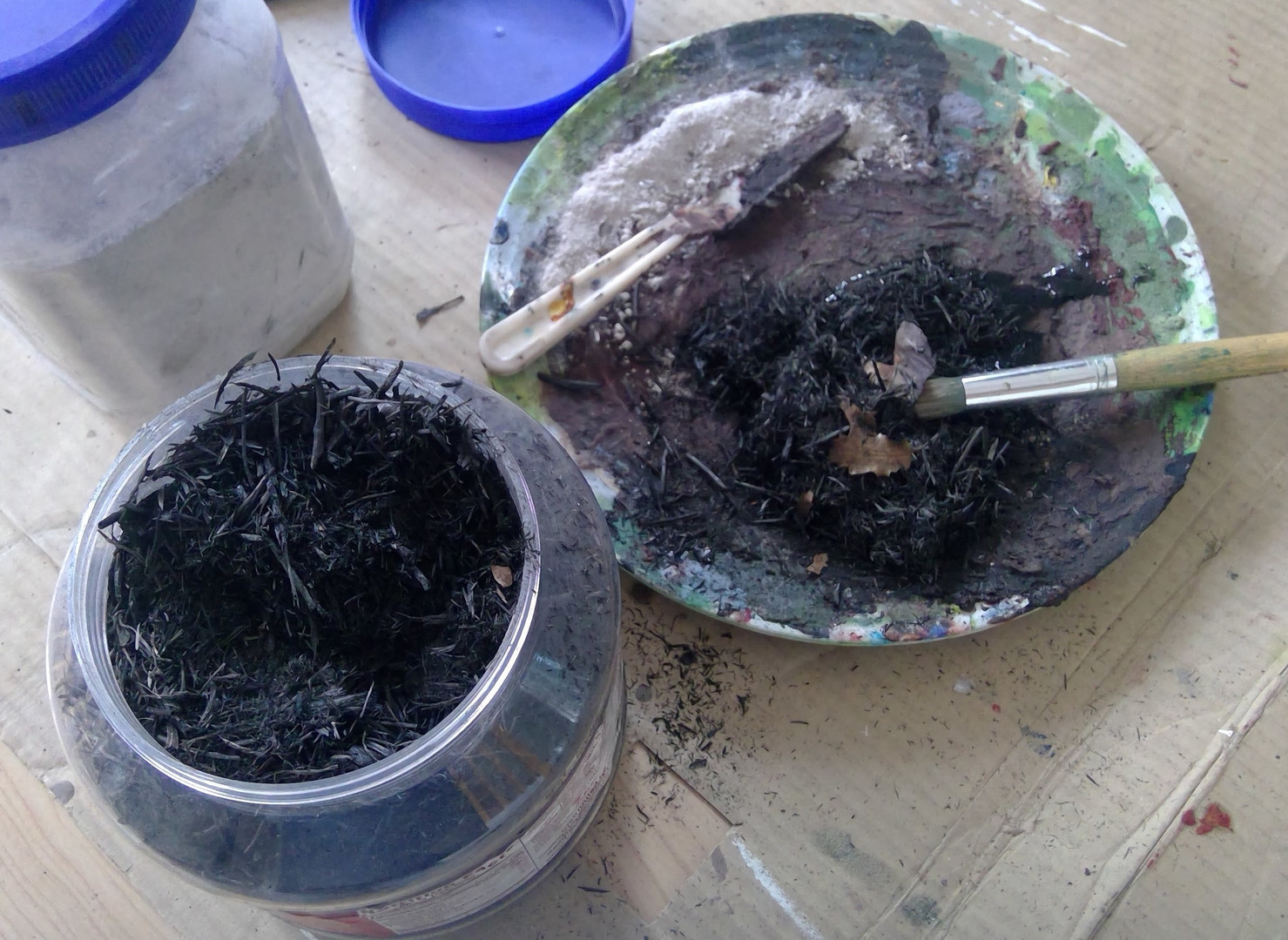 ash collected from the fre around my hom