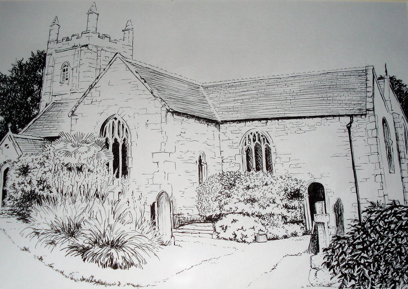 Perranzabuloe Church, Cornwall