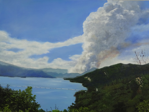 Start of the Fire. Whiskeytown Lake.