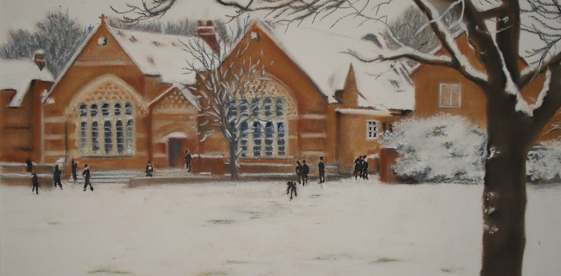 Gordon's School in the snow