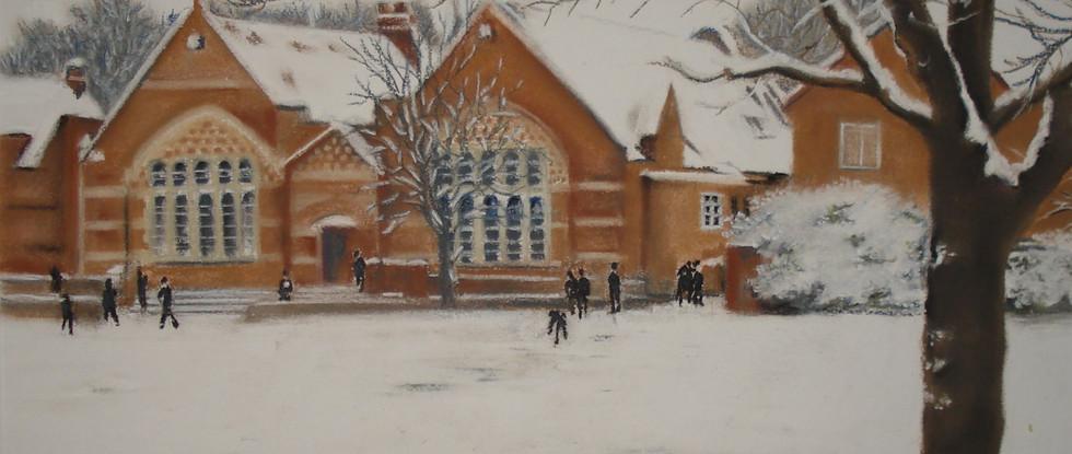 Gordon's School in the snow