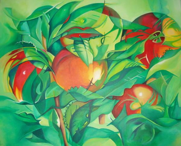 Abstract Apple Tree