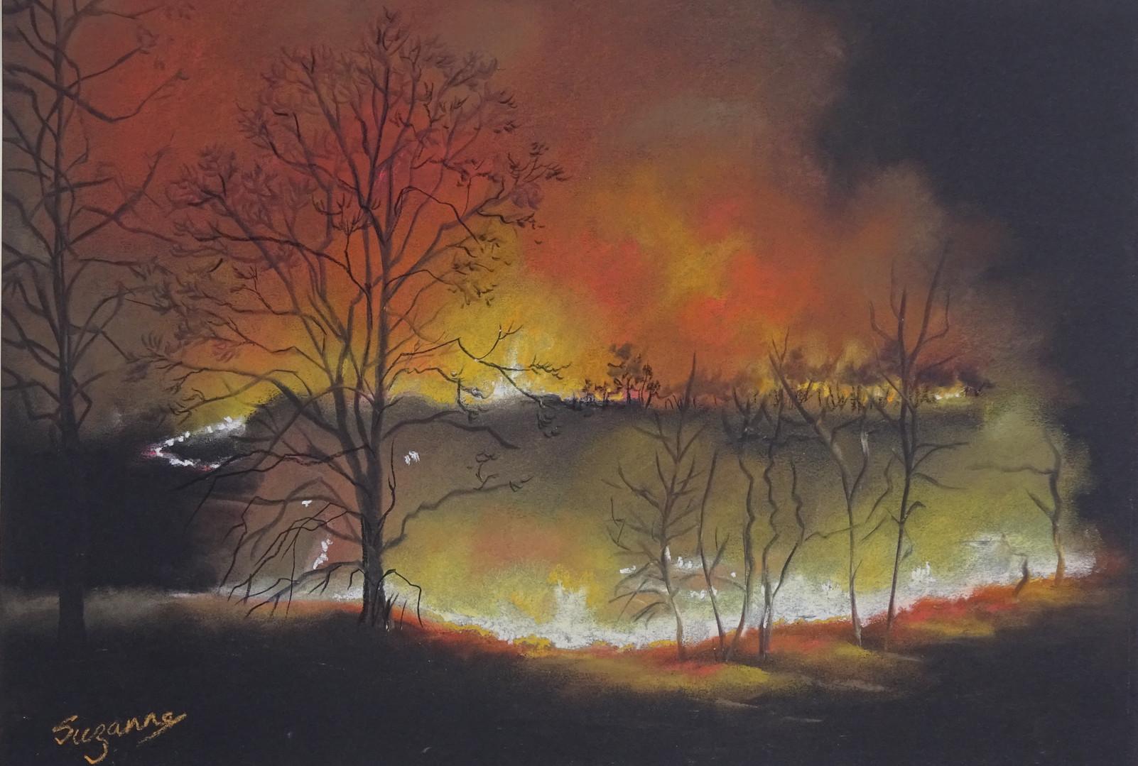 Wildfire Creeps at Night.