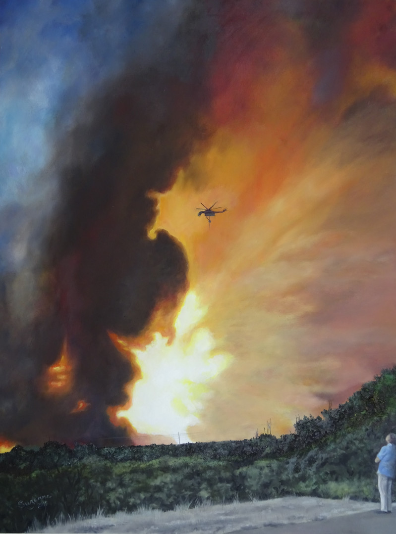 Impending Doom. Ash and oil on canvas.
