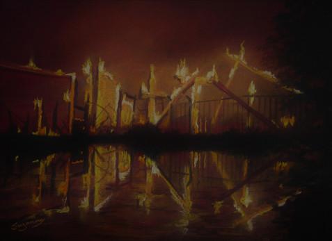 Carr fire at Sacramento River.