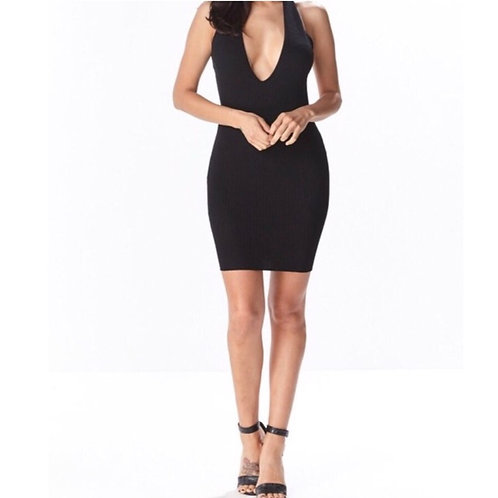 Criss Cross Open Back Ribbed Mini