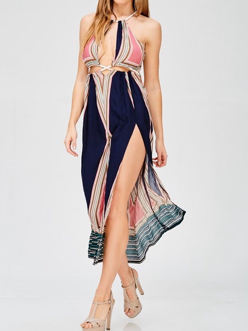 Navy Multi Rope Dress