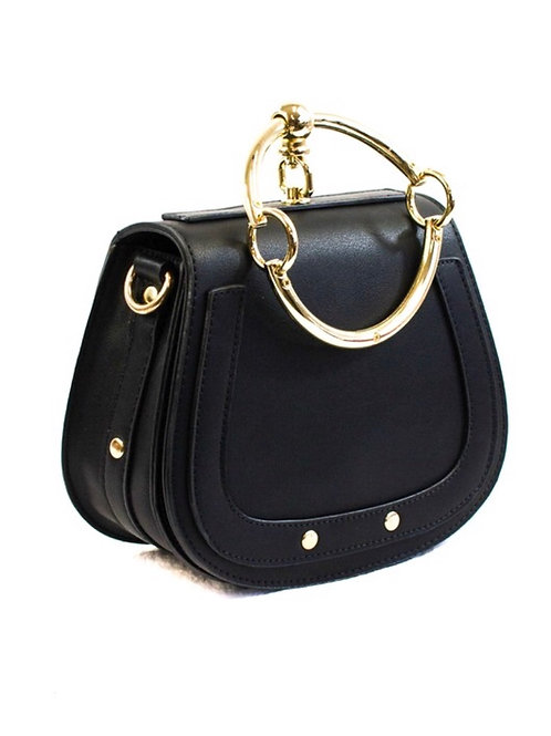Jackie Black Circle Bag