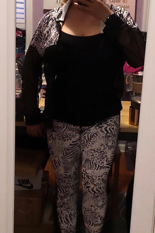 Zebra Mesh Leggings