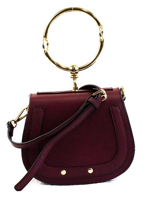 Jackie Burgundy Bag