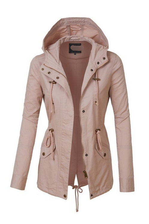 Light Blush Military Jacket