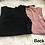 Thumbnail: Black and Mauve Seamless Bodysuit Set