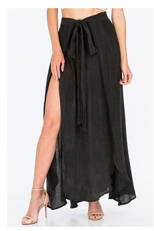 Double Slit Charcoal Maxi