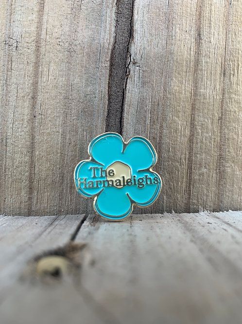 """Harmaleighs Flower Power"" pin"
