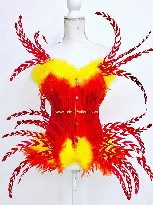 Fire colors Corset
