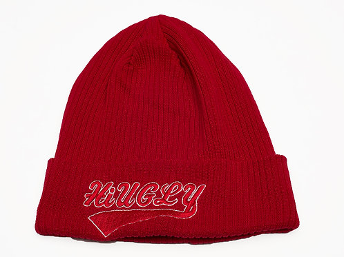 Red with white trim Skully hat