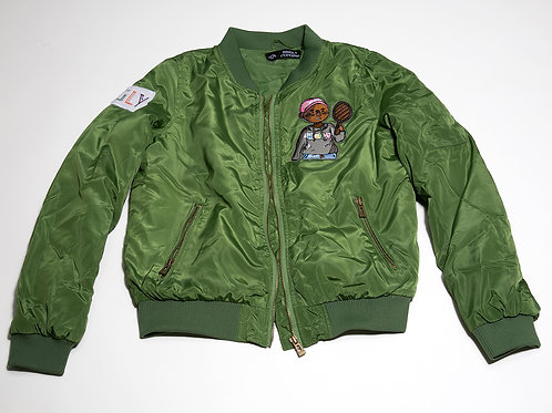 Money green flight jacket