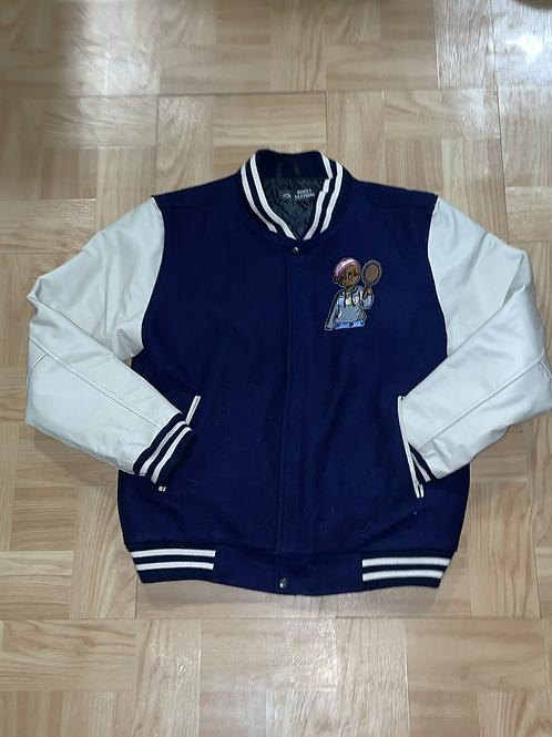 Blue and white Limited edition varsity jacket