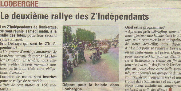 les Z'independants association de motards sur Dunkerque  2 ème rally