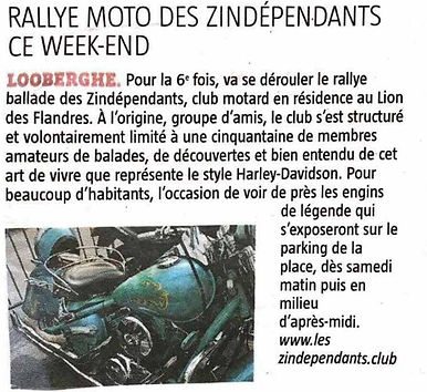 les Z'independants association de motards sur Dunkerque 6 ème rally