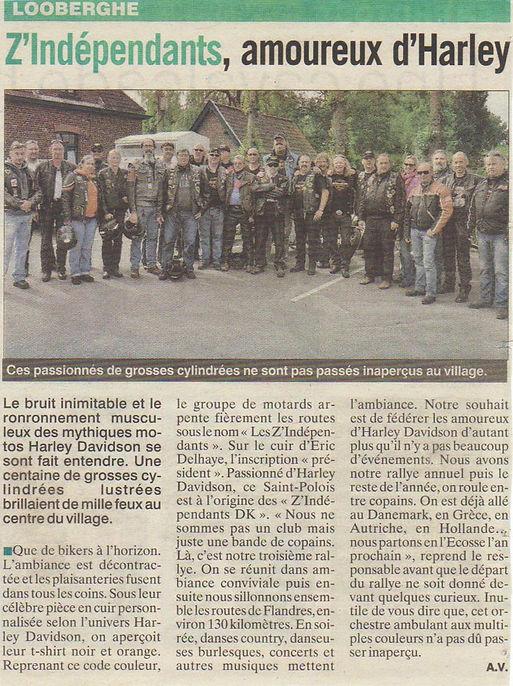 les Z'independants association de motards sur Dunkerque amoureux d'harley