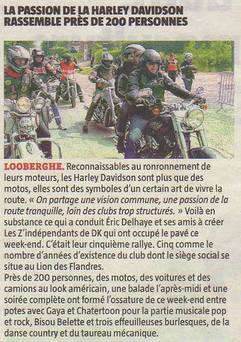 les Z'independants association de motards sur Dunkerque 5 ème rally