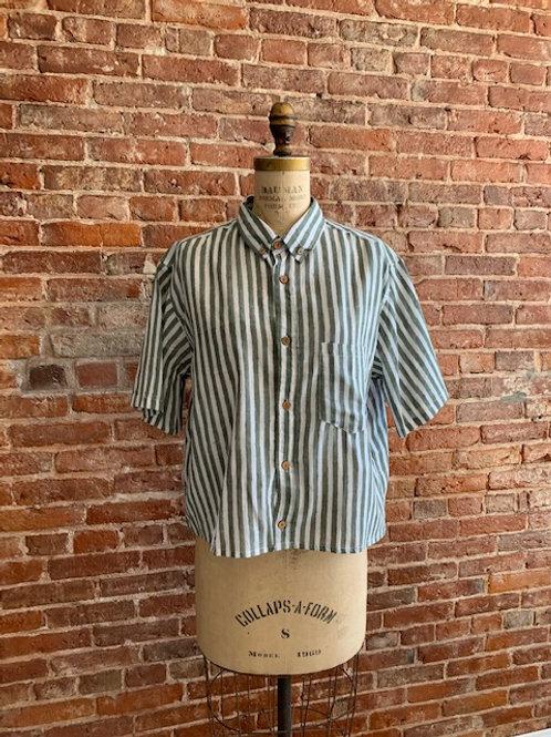 Boxy Shirt Moss Stripe