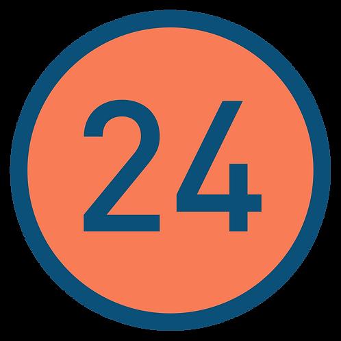 24 aulas
