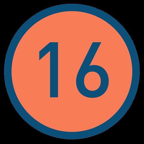 16 aulas