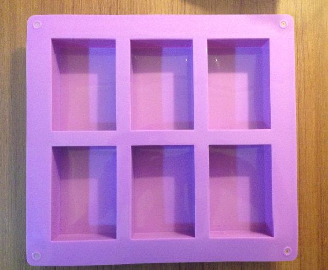 六格矽膠模 (正方)
