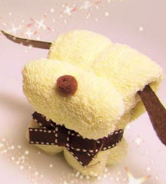 狗狗造形Cupcake毛巾