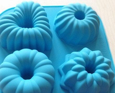 4格矽膠模(甜品)