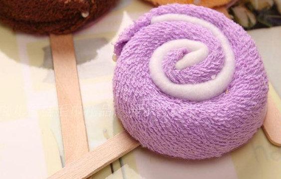 棒棒糖Cupcake毛巾(淺藍色)