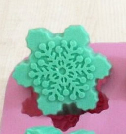 6格矽膠皂模 (雪花)