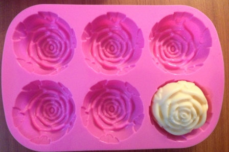 6格矽膠模具(玫瑰)