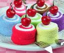 櫻桃瑞士卷Cupcake毛巾