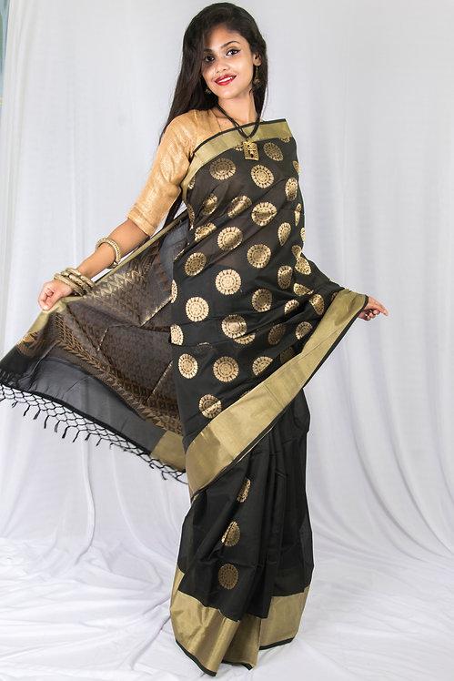 Black Beauty - Maheshwari Silk