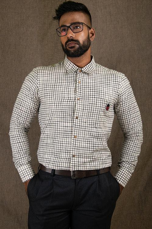 Chequered - Black 'n' White Check Shirt