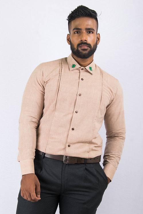Coffee - Brown Men's Shirt