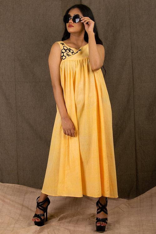 Honey - Yellow Swing Dress