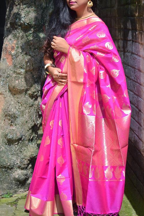 Lunetta - Pink Maheshwari Silk