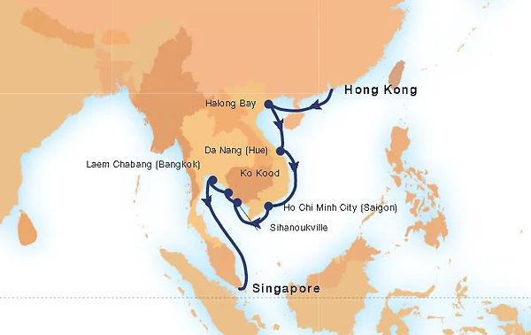 Seabourn 3 Jan 2021 Hong Kong to Singapo